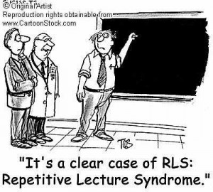 A repetitive lecturer
